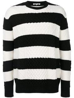 полосатый вязаный свитер с косами McQ Alexander McQueen