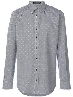 полосатая рубашка с черепами Alexander McQueen