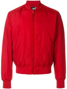 куртка-бомбер с вышитым логотипом Love Moschino