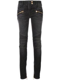 байкерские джинсы с заниженной талией Balmain