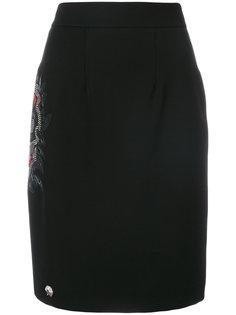 юбка-карандаш с вышивкой Philipp Plein