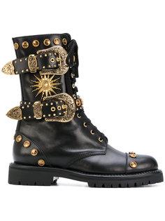 высокие ботинки с заклепками Fausto Puglisi