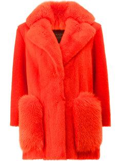 меховое пальто свободного кроя Blancha