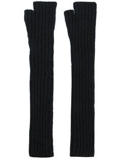 длинные перчатки-митенки Balmain