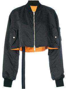 укороченная куртка-бомбер с вышитым черепом Unravel Project