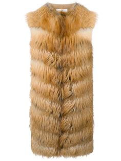 пальто без рукавов со вставками  Manzoni 24