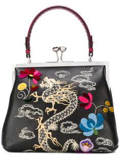сумка-тоут с вышитым драконом Ermanno Scervino