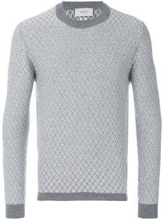 свитер с простроченным узором Pringle Of Scotland