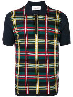 трикотажная рубашка-поло с отделкой в клетку Pringle Of Scotland