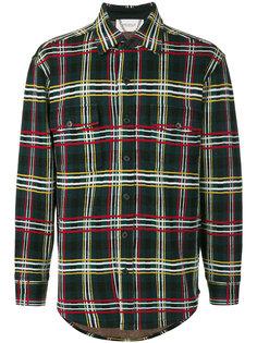 вязаная рубашка с узором в клетку Pringle Of Scotland