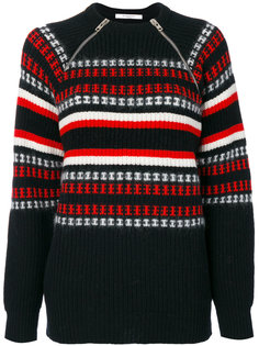 свитер с молниями на воротнике Givenchy