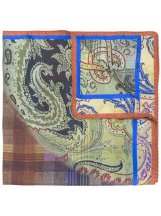 клетчатый нагрудный платок с узором Etro