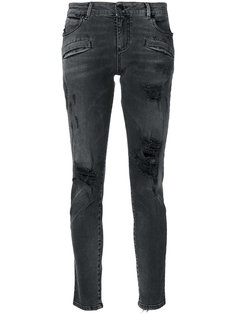 """джинсы """"скинни"""" с прорванными деталями Pierre Balmain"""