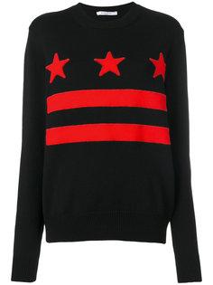 свитер с полосками и звездами Givenchy
