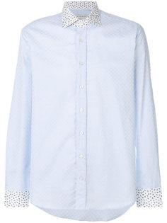 приталенная рубашка с контрастным принтом Etro