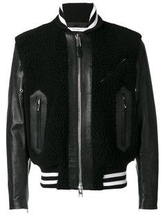 куртка с панелями из овчины Givenchy