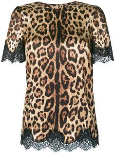 топ с леопардовым принтом Dolce & Gabbana