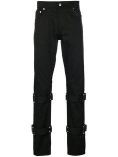брюки с ремешками Alexander McQueen