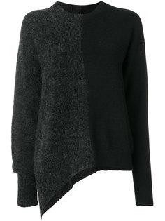 асимметричный двухцветный свитер  Mm6 Maison Margiela