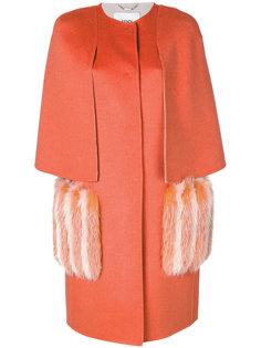 структурированное приталенное пальто  Fendi
