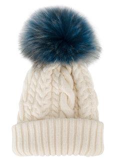 шапка с меховым помпоном Miu Miu