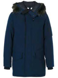куртка с капюшоном с отделкой из енотового меха Kenzo