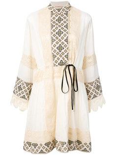 платье с орнаментальной вышивкой Tory Burch