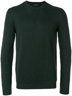 свитер узкого кроя с ребристой фактурой Roberto Collina