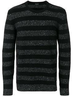 свитер с круглым вырезом в полоску Roberto Collina
