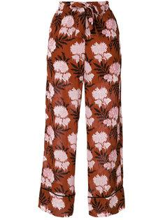 широкие брюки с принтом Ganni
