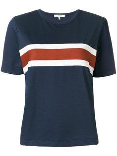 футболка с контрастными полосками Ganni