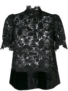 кружевная блузка с высокой горловиной Nº21