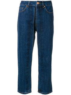 укороченные джинсы с декоративной плиссировкой Aalto