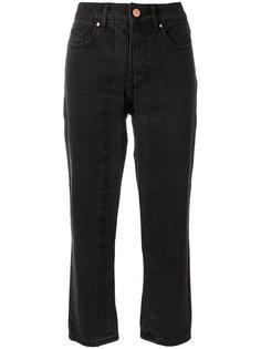 укороченные джинсы с прошитыми складками Aalto