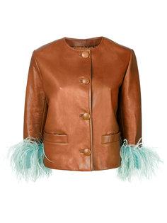 куртка с контрастными манжетами Prada