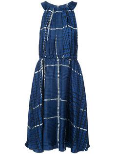платье со сборками на талии Oscar de la Renta