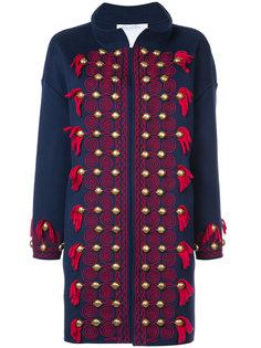 пальто с заклепками и кисточками Oscar de la Renta