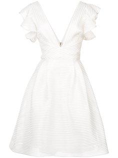 платье с глубоким V-образным вырезом Marchesa Notte