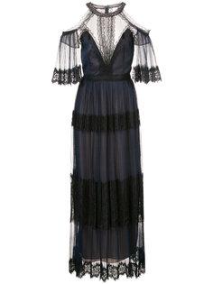 платье с кружевной отделкой Marchesa Notte