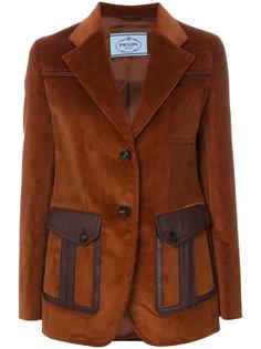 вельветовый пиджак Prada