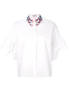 рубашка с вышитым воротником Vivetta
