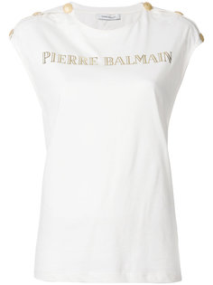 футболка с принтом логотипа Pierre Balmain
