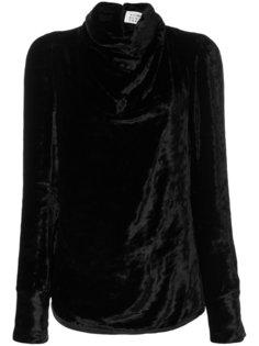 драпированная блузка с высокой горловиной Maison Margiela
