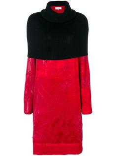 двухцветное платье с отворотной горловиной Maison Margiela