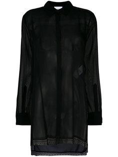 прозрачная блузка приталенного кроя DKNY