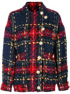 твидовая куртка-бомбер  Balmain