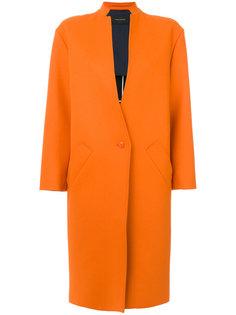 пальто на одной пуговице  Cédric Charlier