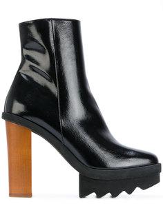 ботинки на контрастном каблуке Stella McCartney