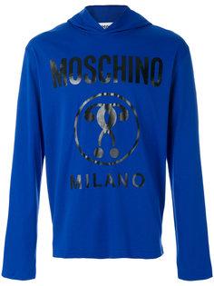 толстовка с капюшоном и виниловым логотипом Moschino