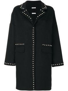 пальто с отделкой заклепками P.A.R.O.S.H.